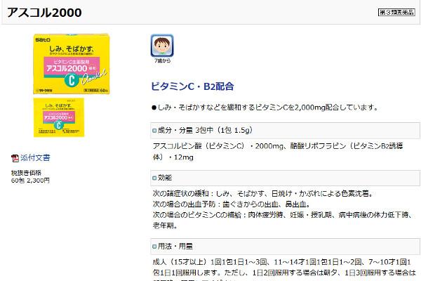 アスコル2000の評判・口コミ